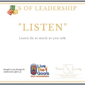 ABC's of Leadership (Listen)